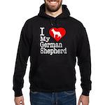 I Love My German Shepherd Hoodie (dark)