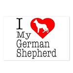 I Love My German Shepherd Postcards (Package of 8)