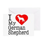 I Love My German Shepherd Greeting Card