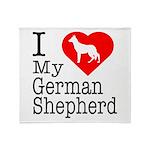 I Love My German Shepherd Throw Blanket