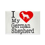 I Love My German Shepherd Rectangle Magnet (10 pac