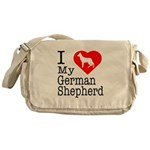 I Love My German Shepherd Messenger Bag