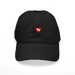 I Love My German Shepherd Black Cap