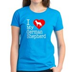 I Love My German Shepherd Women's Dark T-Shirt