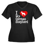 I Love My German Shepherd Women's Plus Size V-Neck