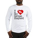 I Love My German Shepherd Long Sleeve T-Shirt