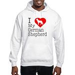 I Love My German Shepherd Hooded Sweatshirt