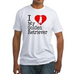 I Love My Golden Retriever Fitted T-Shirt