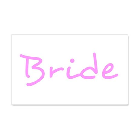 Bride Pink Text #2 - Car Magnet 20 x 12