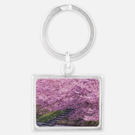 Unique Cherry Landscape Keychain