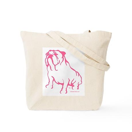 Bulldogger Logo Pink/Tote Bag