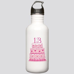 13th Anniversary Cake Stainless Water Bottle 1.0L
