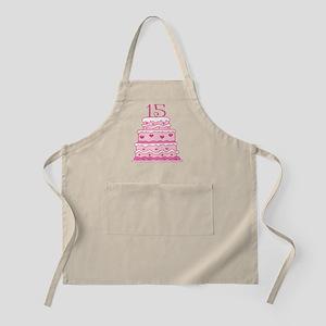 15th Anniversary Cake Apron