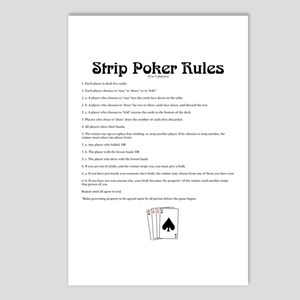 Strip Poker Rules Postcards (Package of 8)