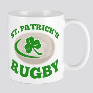st. patrick's rugby Mug