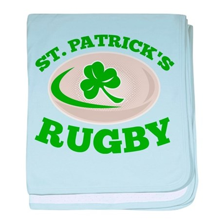 st. patrick's rugby baby blanket