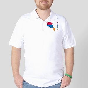 Map Of Armenia Golf Shirt