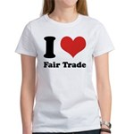 I Heart Fair Trade Women's T-Shirt