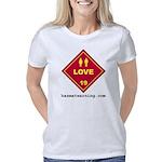 hazmat_10x10_dot_love_1c   Women's Classic T-Shirt