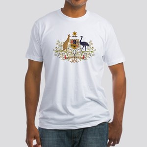 Vintage Australia Coat Of Arms Fitted T-Shirt