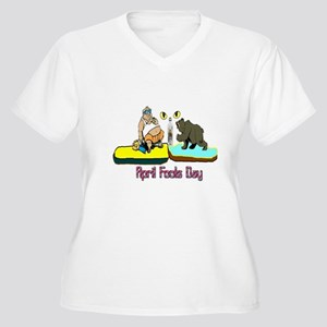 April Fools Day Women's Plus Size V-Neck T-Shirt