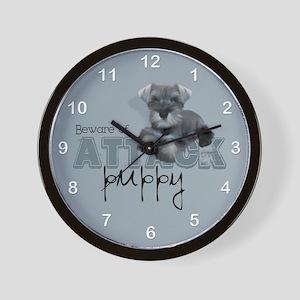 Schnauzer Puppy Wall Clock