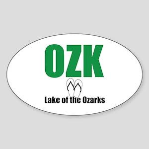 Ozarks Sandles Sticker (oval)