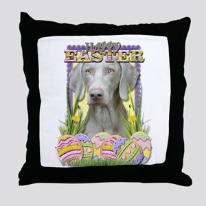 Easter Egg Cookies - Weimie Throw Pillow