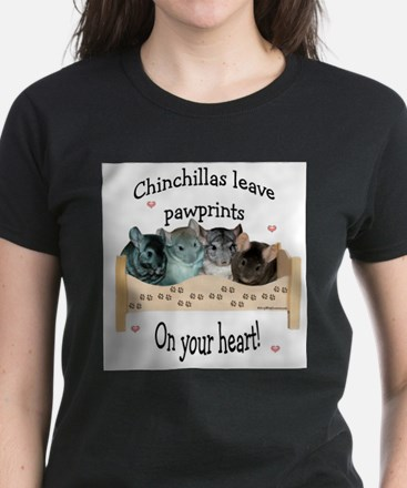 Chin Pawprints Ash Grey T-Shirt