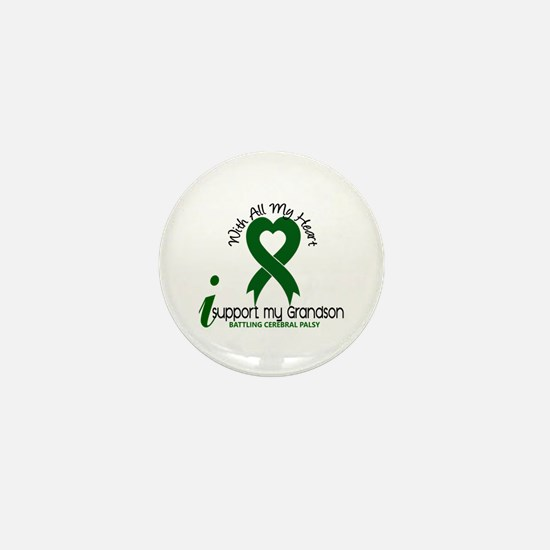 With All My Heart Cerebral Palsy Mini Button