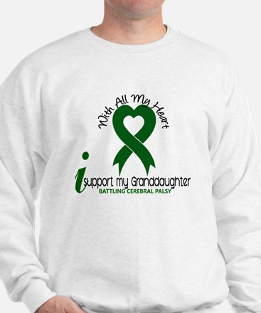 With All My Heart Cerebral Palsy Sweatshirt