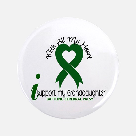 """With All My Heart Cerebral Palsy 3.5"""" Button"""