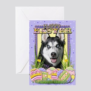 Easter Egg Cookies - Husky Greeting Card