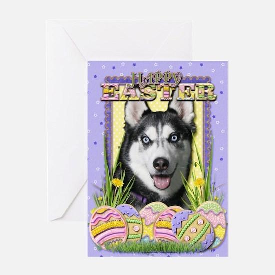 Easter Egg Cookies - Husky Greeting Card