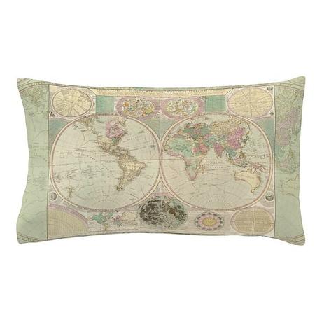 Bowles Antique Map Pillow Case