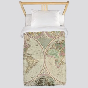 Bowles Antique Map Twin Duvet Cover