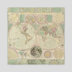 Bowles Antique Map Queen Duvet Cover