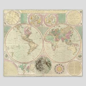 Bowles Antique Map King Duvet Cover