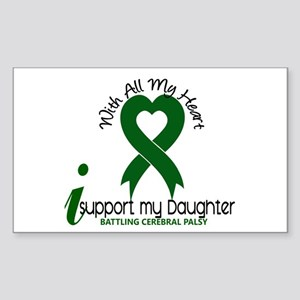 With All My Heart Cerebral Palsy Sticker (Rectangl