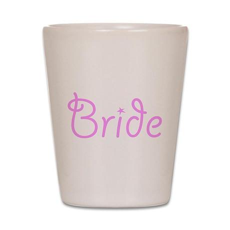 Bride Pink Text #3 - Shot Glass