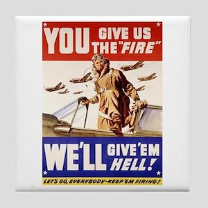 Give'em Hell USAF Tile Coaster