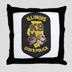 Illinois SP K9 Throw Pillow