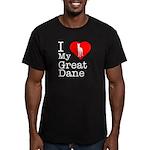 I Love My Great Dane Men's Fitted T-Shirt (dark)