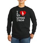I Love My Great Dane Long Sleeve Dark T-Shirt