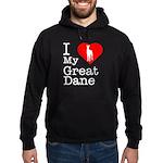 I Love My Great Dane Hoodie (dark)