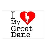 I Love My Great Dane Postcards (Package of 8)