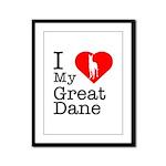 I Love My Great Dane Framed Panel Print