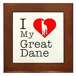 I Love My Great Dane Framed Tile