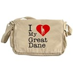I Love My Great Dane Messenger Bag