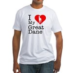 I Love My Great Dane Fitted T-Shirt